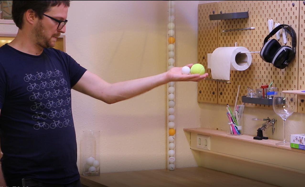 Experience Avec Une Balle De Ping Pong Catapultez Une Balle De